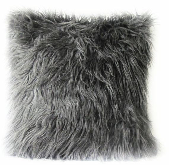 covers brown products bear faux pillow black cover fur o pbteen