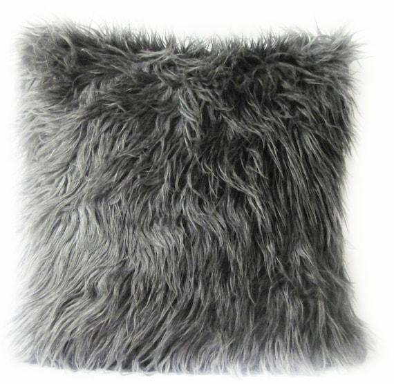 faux euro textured htm project cream pillow fur bookmark square black