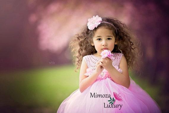 Baby Pink Flower girl dress, blush pink tutu dress princess dress, peppa pig birthday dress, peppa pig tutu dress, 1st birthday dress