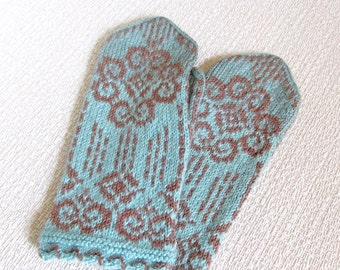 Mittens knit Mittens Woman mittens Warm mittens Knitted mittens Cable mittens Wool knit gift Mother day gift for mother Spring gift