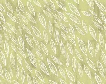 Dear Stella Fabric Fallen Leaves on Fern Quilting Crafting Sewing 100% Cotton