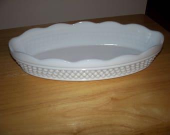 Westmoreland hobnail milk glass dish