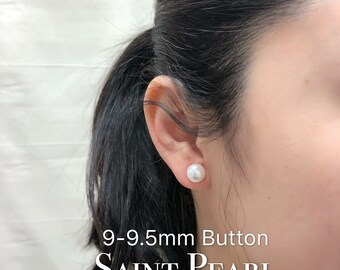 9-9.5mm Freshwater cultured pearl earring