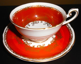 Gilded Shelley Cup and Saucer