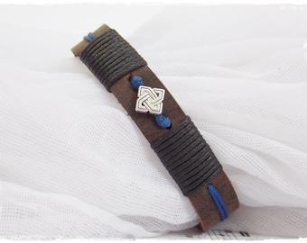 Men's Leather Bracelet, Leather Bracelet For Him, Celtic Leather Bracelet, Anniversary Leather Bracelet, Leather Jewelry For Men, For Boys