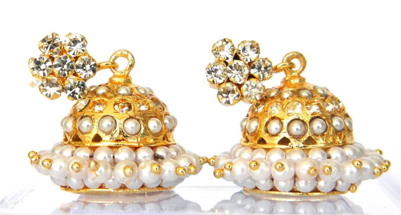 Jhumka Earrings Indian jhumka Pakistani jhumka Gold Plated