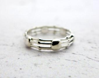 Skeletonema Diatom Ring - Marine Biology Gift - Science Ring - Science Teacher Gift - Teacher Appreciation - Sterling Silver - Nerdy Things