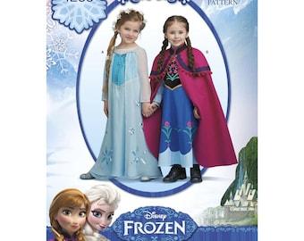 1233, Simplicity, Girls, Snow Queen, Disney, Frozen, Dress Pattern, Elsa Anna Dress Patterns, Cosplay, Dress up, Disney Princess. Coronation