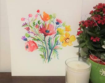 Original Watercolor - Floral Design
