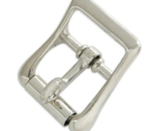 """Strap Buckle w/Locking Tongue 3/4"""" (1.9 cm) Nickel Plated 1539-10 by Tandy Leather"""