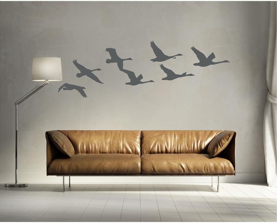 Flying Geese, Bird Wall Decal, Nature Wall Decal, Hunting Wall Decal, Man  Cave Wall Art