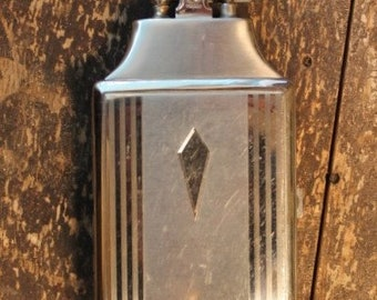Vintage 1930's-1940's Ronson Silver Cigarette Case with Butane Lighter Made in the USA