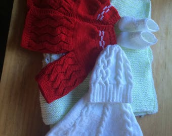 Newborn Baby Girls Boys Beautiful sweater or any color made to order