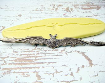 Bat - Flexible Silicone Mold - Push Mold, Jewelry Mold, Polymer Clay Mold, Resin Mold, Craft Mold, Food Mold, PMC Mold