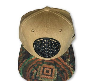 Flower Of Life Snapback Strapback Hat Festival Hat Rave Clothing