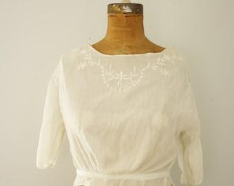 1910s blouse | vintage edwardian shirtwaist