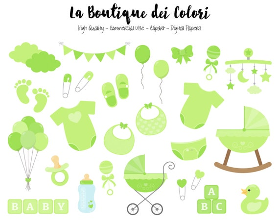 Green Baby Shower Clipart Cute Graphics Png Scrapbook