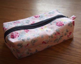 Floral Pencil Case (pink)