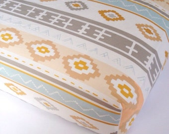 Southwestern CRIB SHEET - Changing Pad Covers / Fitted Crib Sheets / Mini Crib Sheets / Tribal Nursery Bedding / Aztec Crib Sheets