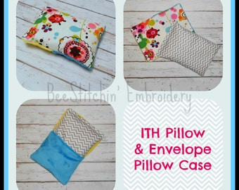 ITH Pillow and Pillow Case - 6 sizes! - Embroidery Design