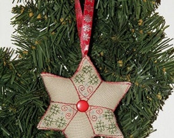 Star - embroidery pattern