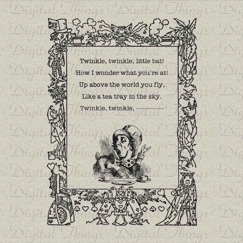 Printable Alice In Wonderland Quotes: Alice In Wonderland Mad Hatter Quote Twinkle Twinkle Printable
