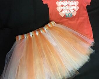 Toddler Tutu Skirt and OneZ Set size 24 Month