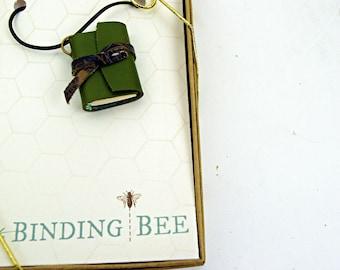Green Mini Book Necklace
