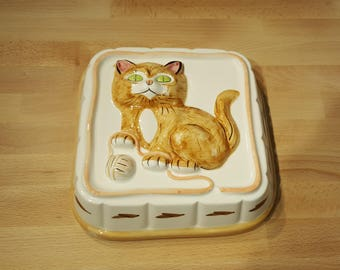 Cat Ceramic Wall Mold by Daeware Wall Hanging for Gourmet Kitchen Decor presented by Donellensvintage