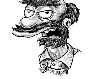 Groundskeeper Willie Print