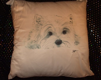 West Highland Terrier Dog Pillow/ Cushion or Cover only