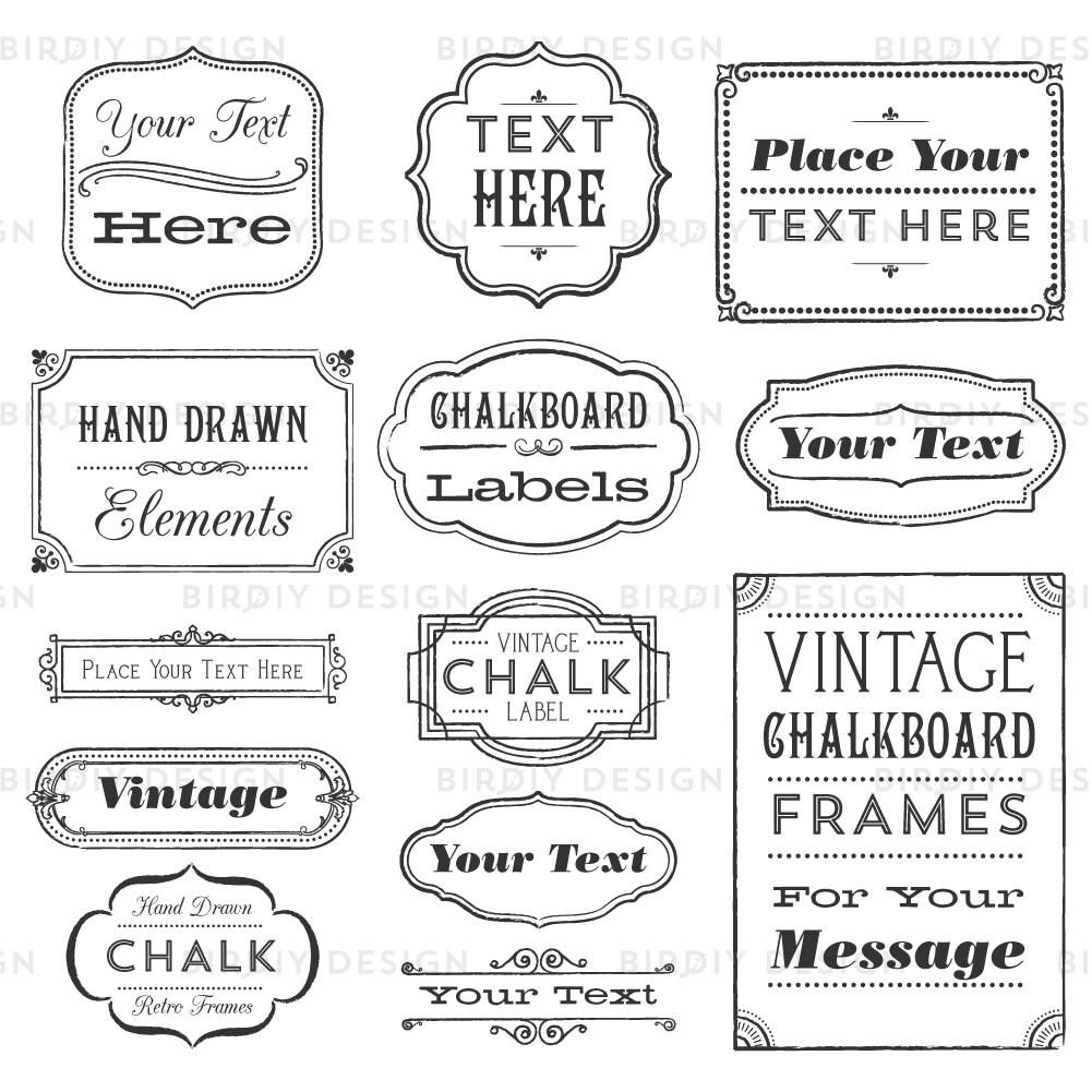 Rustic Frames Clipart Rustic Boho Clipart Vintage Frames
