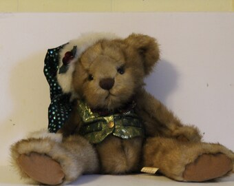 Christmas Teddy Bear, Stuffed Bear, Plushy Bear