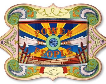 Power to the People - Poster - Sign painting, fileteado