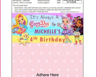 Sunny Day Inspired Custom Personalized Hershey/Chocolate Bar Label PDF - You DOWNLOAD and PRINT