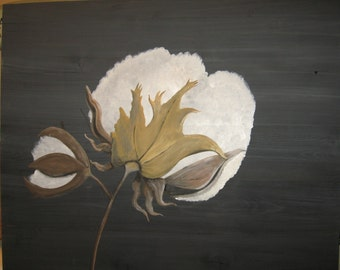 Cotton Boll Painting