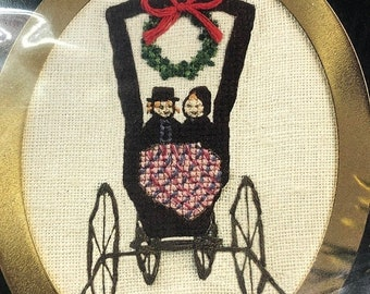 SUMMERSALE P Buckley Moss, Amish Buggy, June Grigg Designs, Limited Edition, Vintage 1996, Counted, Cross Stitch, Christmas, Ornament Kit