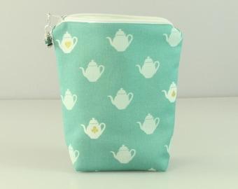 Wonderland Teapots Notions Bag/ Pouch/ Purse.