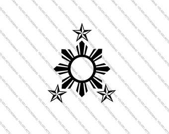 Three Stars and A Sun (Pilipinas, Ph, Philippines) Vinyl Decal Sticker