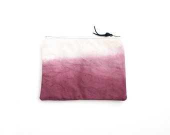 Burgundy dipdyed pouch with zipper I