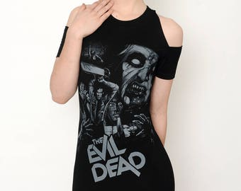 Horror Evil Dead Altered Tee Shoulder-Cut Dress