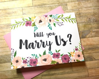 will you marry us - card to ask officiant - wedding officiant card gift - will you help us tie the knot