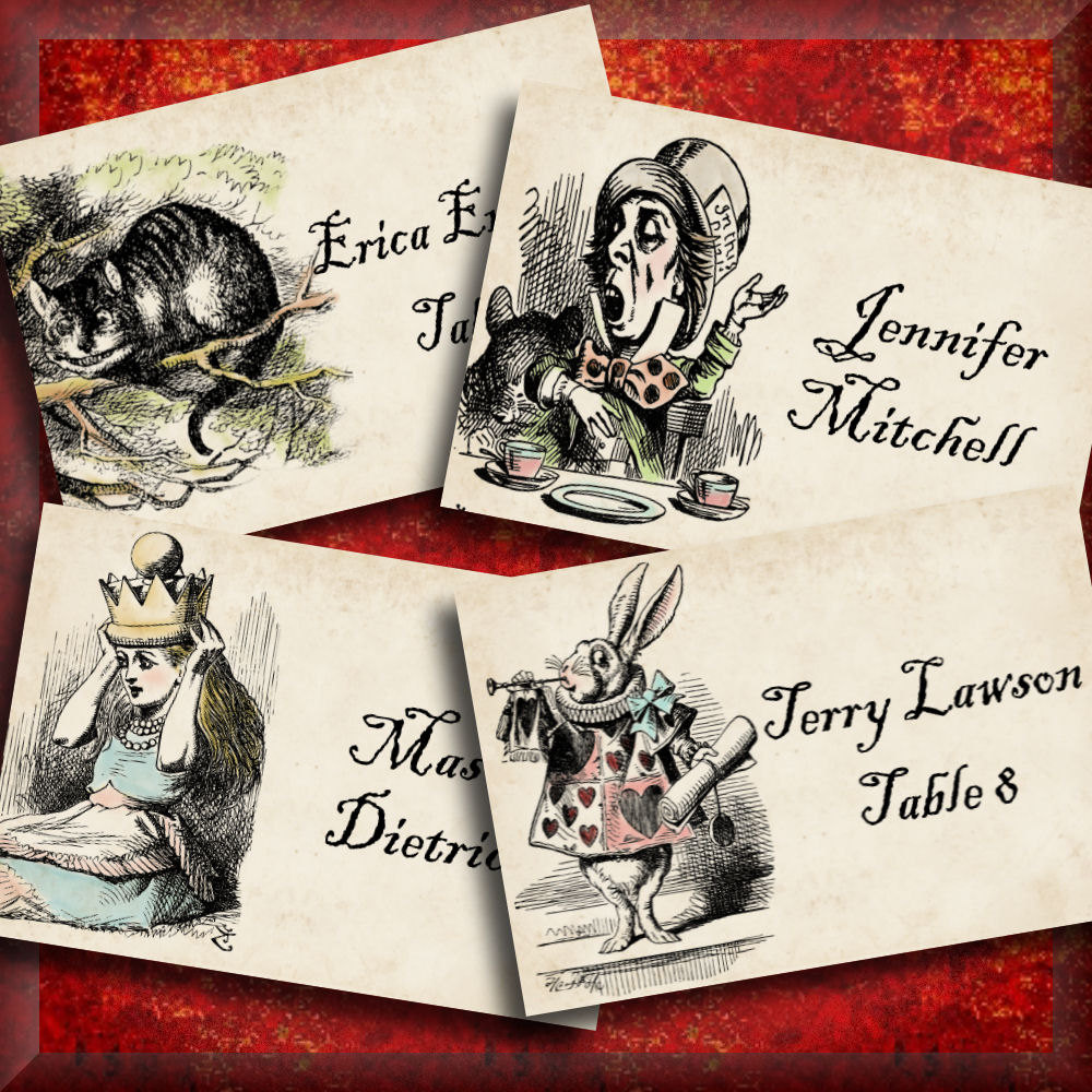 Alice in wonderland printable tented place cards editable zoom solutioingenieria Image collections
