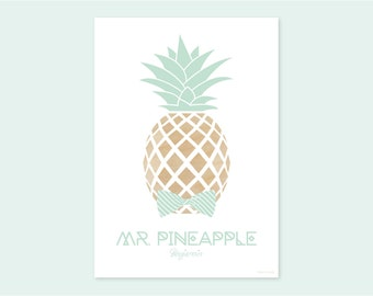 A4 print MR. PINEAPPLE Benjamin