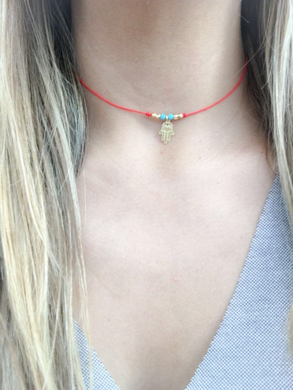 string bracelet pendant on bracelets blue store chai red necklace