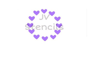 Heart Circle Stencil