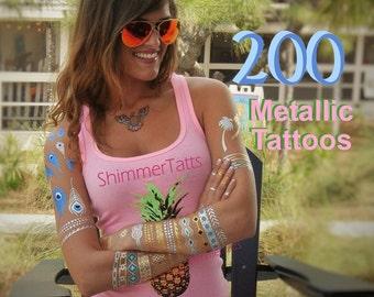 Best Teen Girl Gift Birthday Idea, Gifts for Teenage Girls, Teen Girl Birthday Idea for Teen Girls, Metallic Tattoos Teen Gift