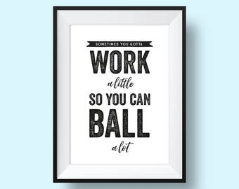 Tom Haverford, Parks and Recreation Quote Print - PRINTABLE, Digital Download