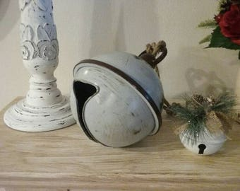 Large Christmas Bell, rustic, jingle bell, farmhouse