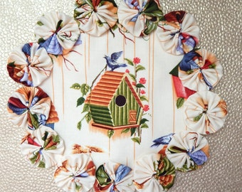 Birdhouse Doily or Candle Mat